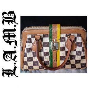 L.A.M.B Exeter Ombre Checkerboard Handle Bag